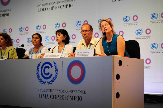 Elisabeth Grimberg representando a ARZB na COP20