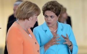 A chanceler alemã, Angela Merkel, e Dilma Rousseff | Wilson Dias - Agência Brasil