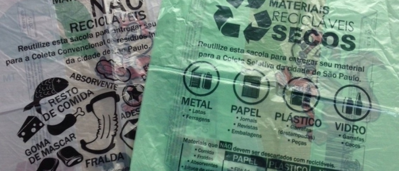 Supermarkets in São Paulo can now only offer plastic bags made from plant-based plastics, and those bags must be color-coded green or gray.