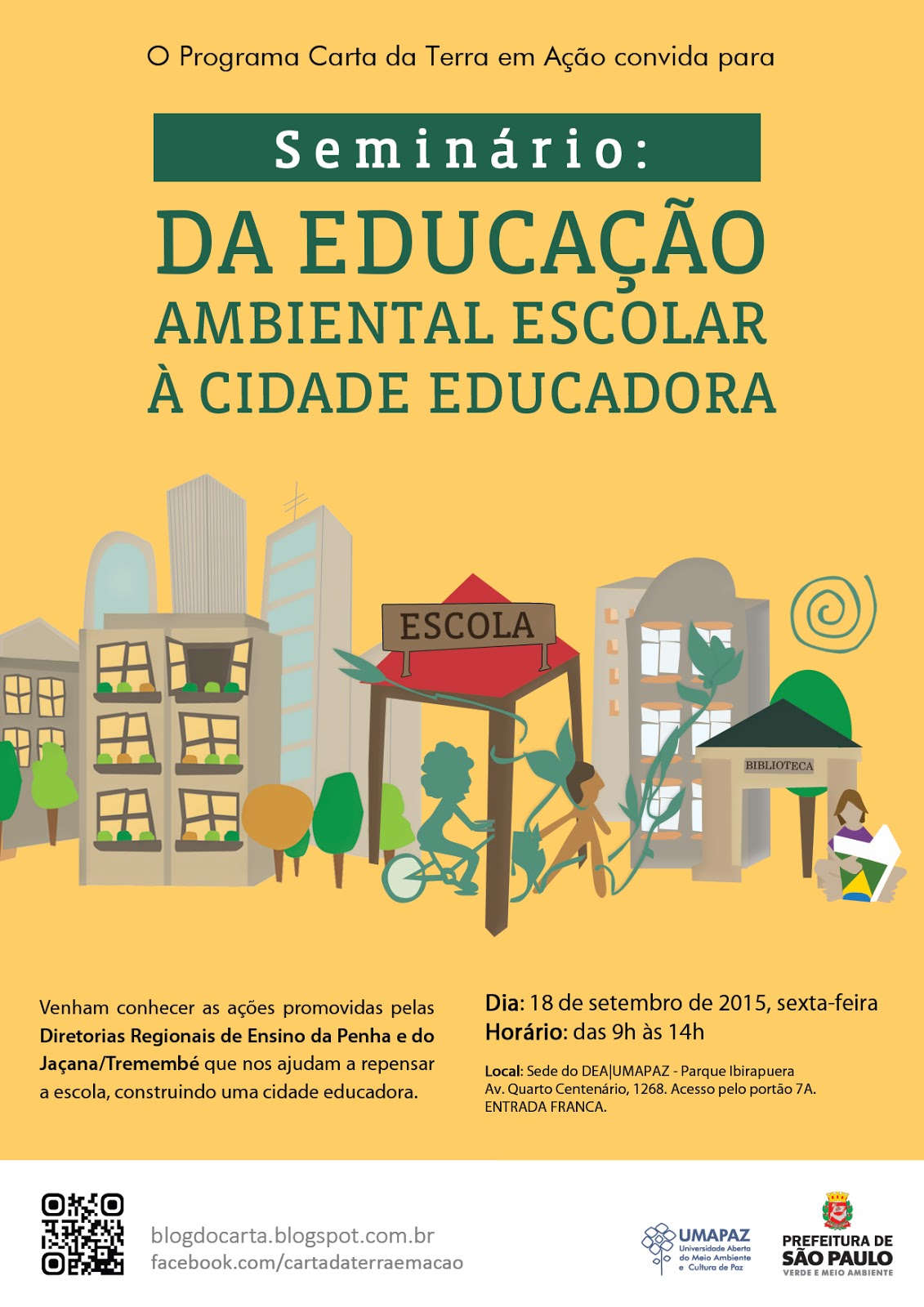 Seminario de Educacao Integral do Carta da Terra A4 QR Code