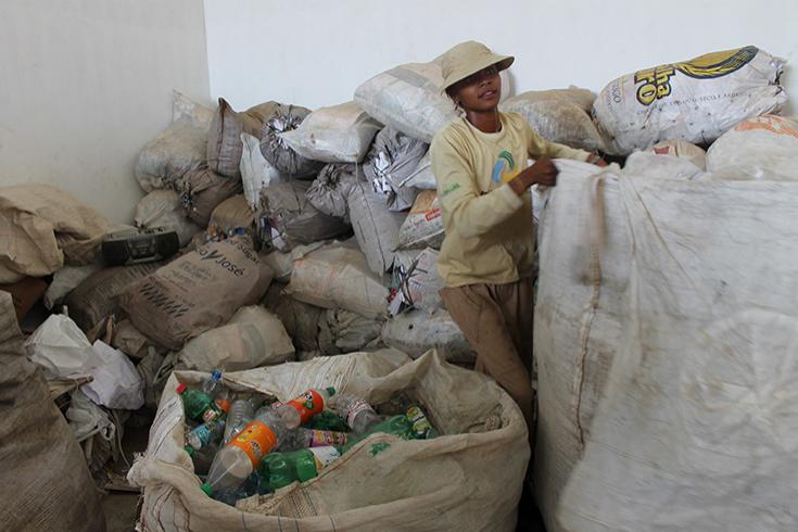 Moana Nunes, catadora de materiais recicláveis. Foto: Banco Mundial/Mariana Kaipper Cerratti