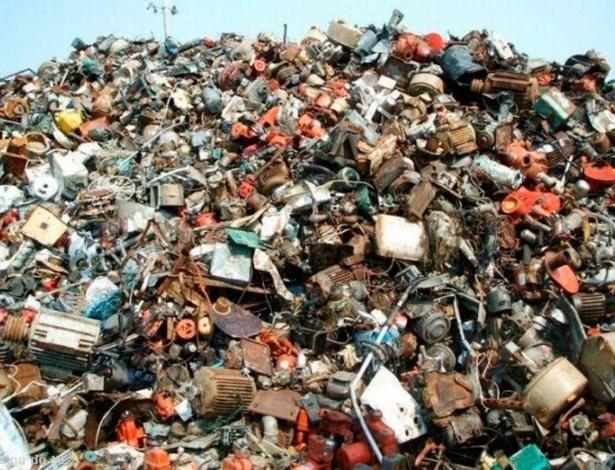 cama terra lixo